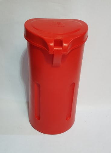 Top Loading Fire Extinguisher Case Including Vehicle Fixings