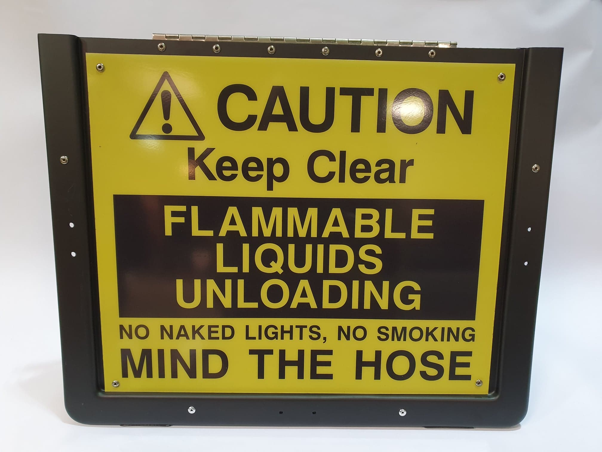 Mind the Hose Pavement Sign